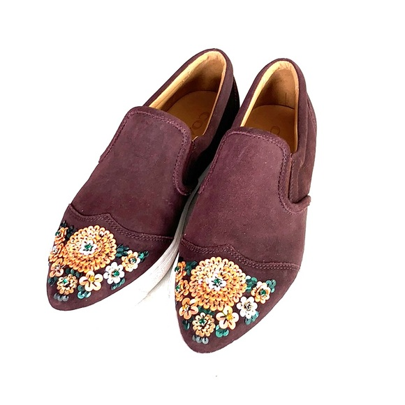 Coach Shoes - Suede Bling Coach Loafers